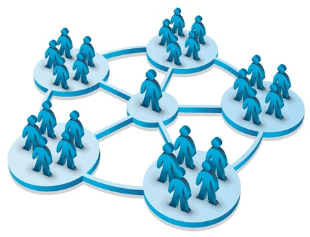 concepto de equipo con la gente 3d