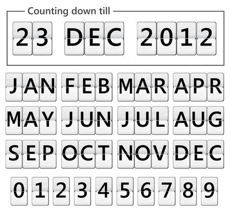tarih ay ve numaraları ile ekran çevirmek