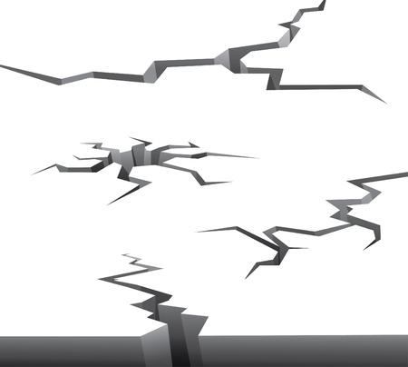 effondrement: collection d'illustrations de crack
