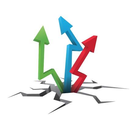 risico analyse: pijlen bereiken van een scheur