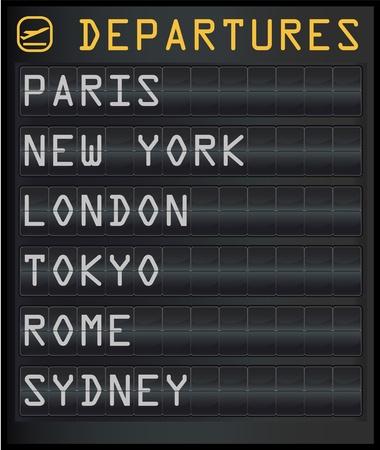 cronograma: aeropuerto de salida del consejo Vectores
