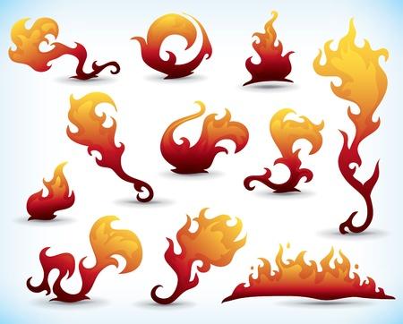 ateşli dövme elemanlarının set
