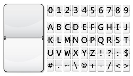 Flip-Display mit Zeichen für Text Vektorgrafik