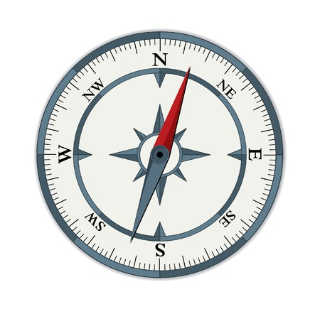 compass rose: vector compass illustration