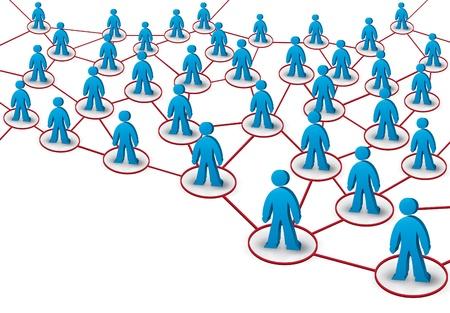 multilevel: Illustrazione di rete con le persone 3d