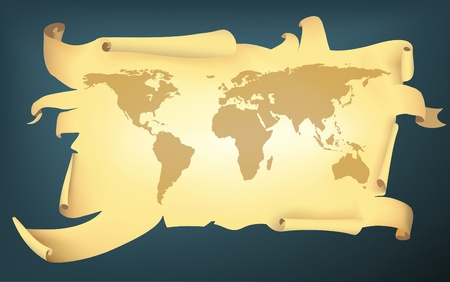 pirate style world map Vector