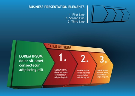 flowchart: Presentation with directional elements