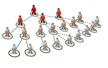 network marketing: people in tree network