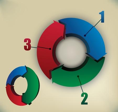 arrow circle: 3d vector presentation elements