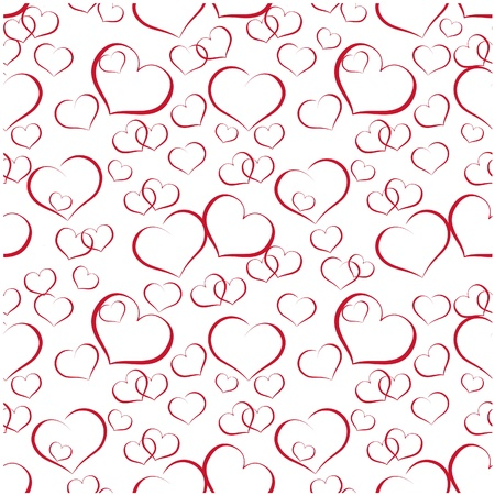 repeatable: seamless valentine textures with hearts