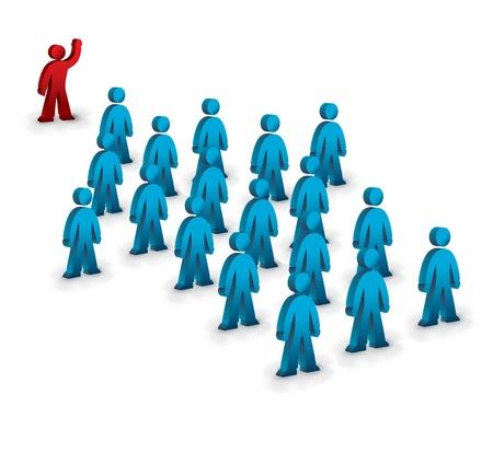 teamleider: teamleider symbool met het team in pijlvorm