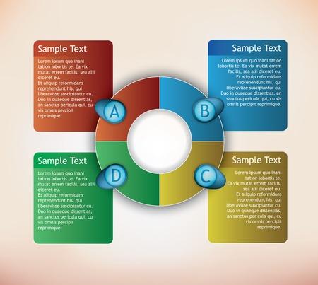 presentación de diagrama con cuadros de texto y números Foto de archivo - 11562971
