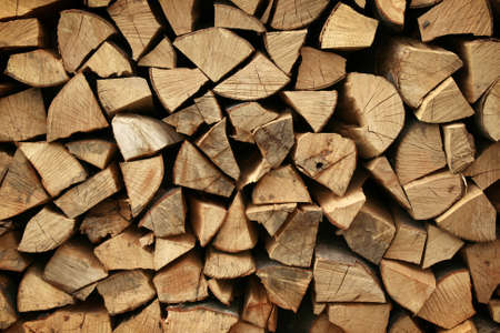 texture of a firewood pile