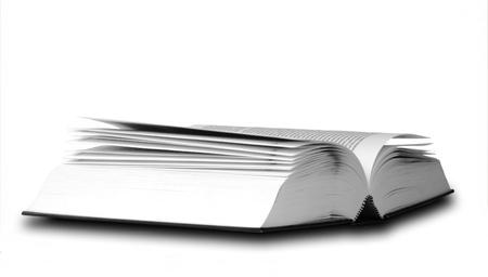 opened book isolated on white background Stock Photo - 11585734