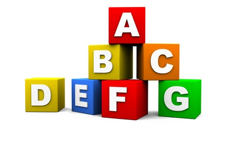 abc blocks: cubes with letters on them