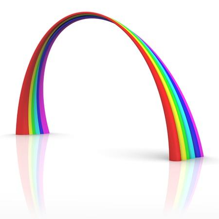 marvel: illustration of rainbow concept isolated on white background Stock Photo