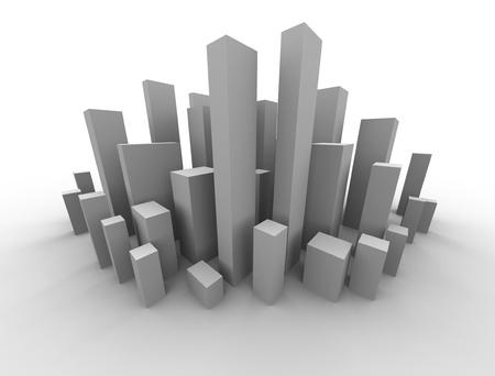 abstract buildings design of a metropolitan area photo