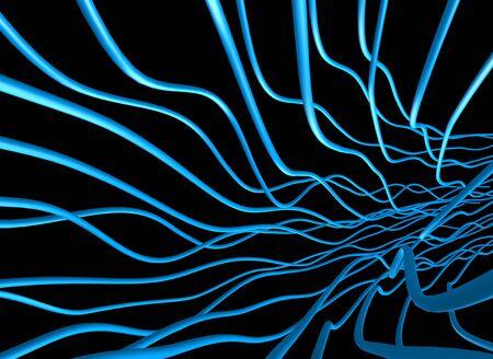abstract fibers illustration Stock Illustration - 11585692