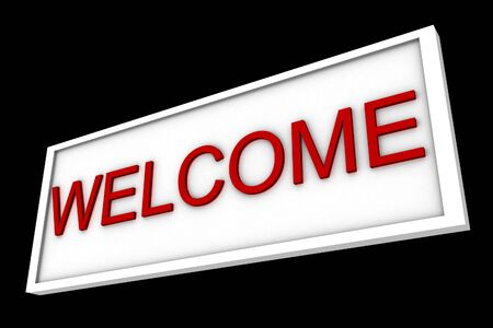 3d welcome sign Stock Photo - 11585550