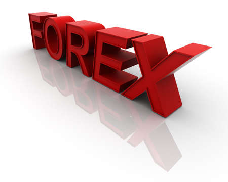 3d mirrored forex text Stock Photo - 11585553