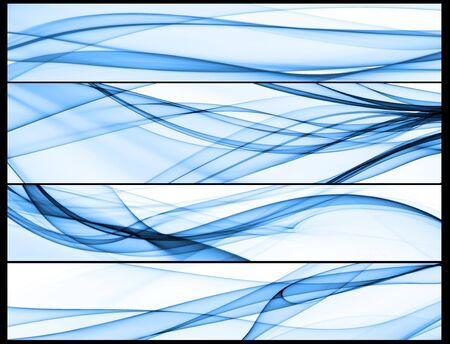 blue silk: smooth waves, smokey shapes, abstract curves
