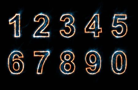 collection of glowing numbers Stock Photo - 11585064
