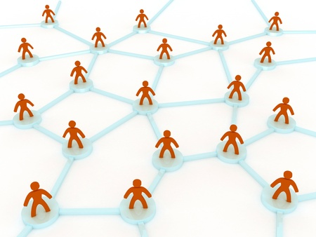 multilevel: 3d network concept with people