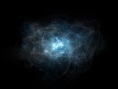 abstract illustration with swirls, waves, smokey elements illustration