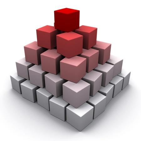 jerarquia: 3d pirámide aislado sobre fondo blanco Foto de archivo