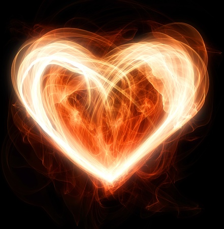 enlightenment: flaming heart illustration