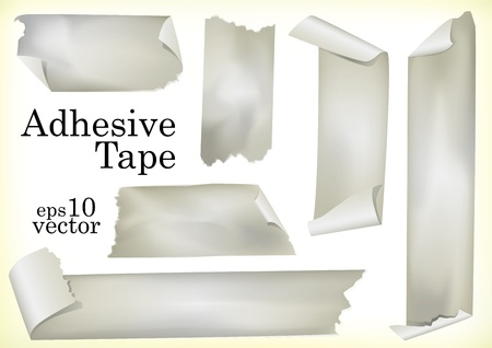 A Set of Illustrations of Adhesive Tapes Vector