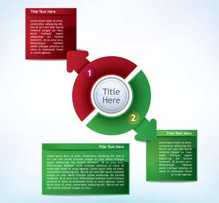 registry: Business Presentation Diagram with two different colored fields for text and statistics Illustration