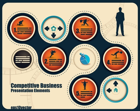 business process: Abstract business presentation with space for text and different elements