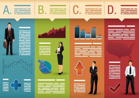 sjabloon: Sjabloon voor infographics, websites, brochures, presentaties