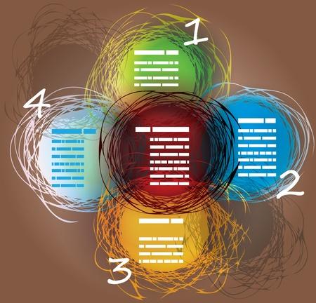 텍스트에 대 한 공간을 가진 색의 무료 그린 중복 분야의 추상적 인 배경