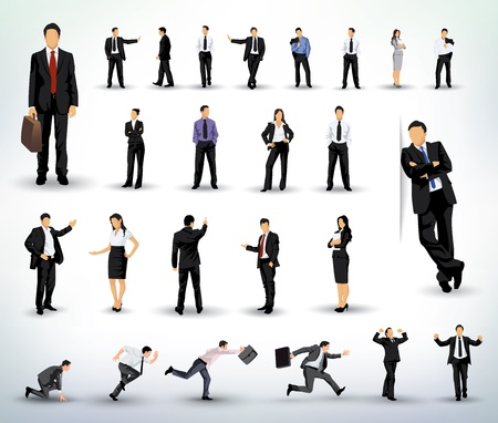 people: Executivos ilustrações Ilustração