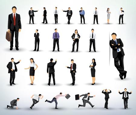 Personas ilustraciones negocios Ilustración de vector