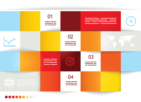 Geometrical brochure template with square fields for input Stock Vector - 25249465