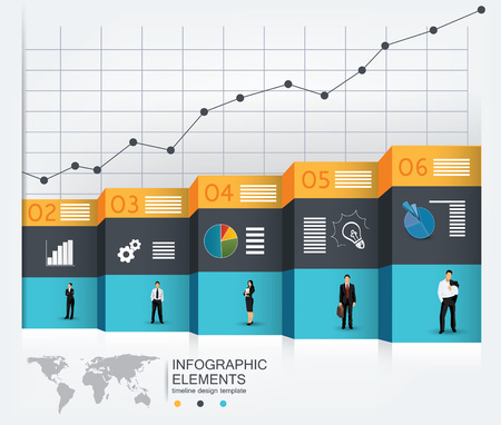 powerpoint: Business concept template for infographics, powerpoint presentations and other media