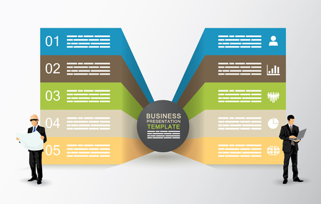 sided: Two sided presentation template with five fields