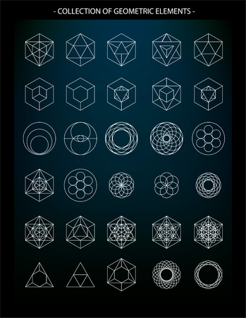esoteric: Vector set of geometric elements