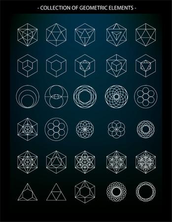 Vector set van geometrische elementen