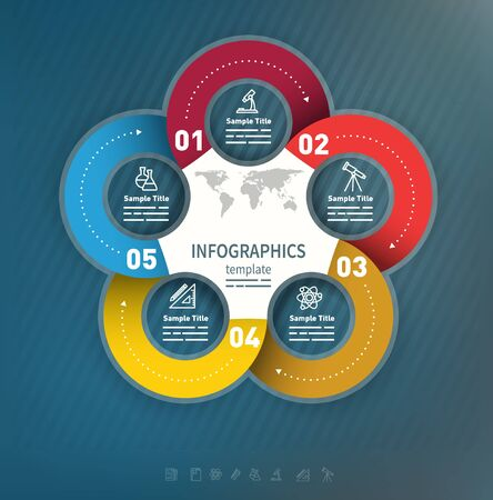 ad: 5 options abstract business presentation template used for brochures, diagrams, banners web designs, infographics