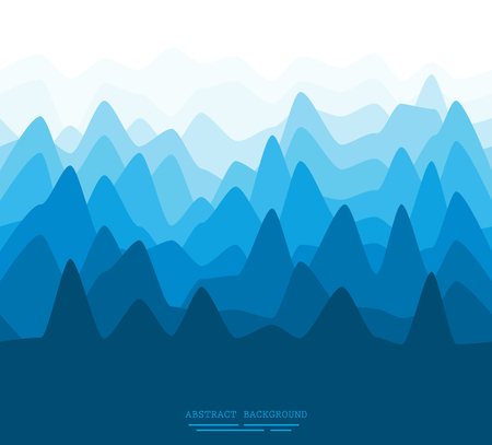 panoramic nature: Abstract illustration of a flat mountain scenery pattern