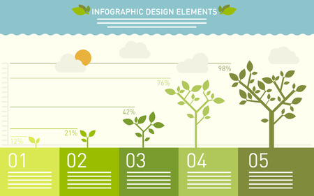 gardening: Presentation template with the evolution of a tree