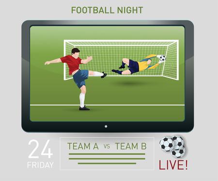 jugadores de futbol: Ilustración de un portero atrapar una pelota Vectores