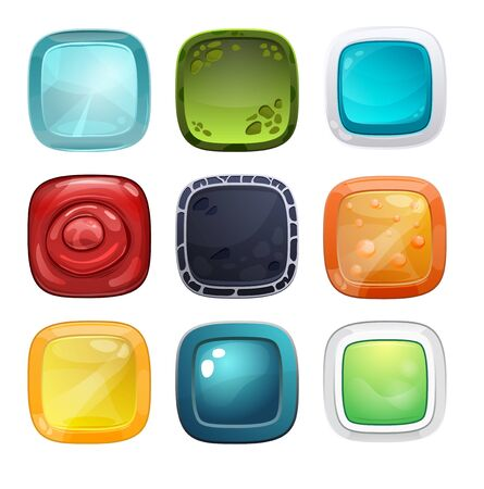 Set of different buttons for games or web design and applications Stock Photo - 70209528