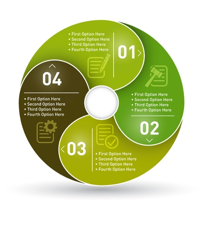 Circle infographics with four option