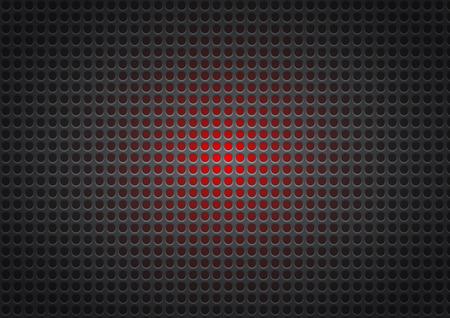Black and red perforated metal abstract geometric background, vector Ilustrace