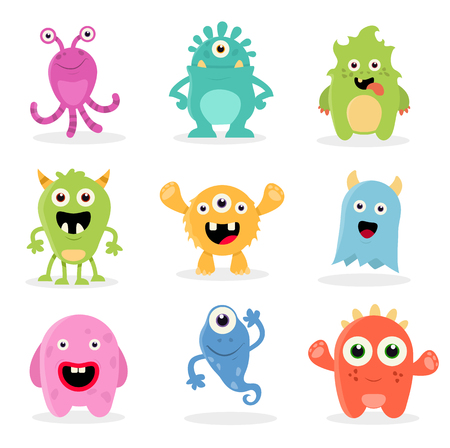 Cute Cartoon Monsters illustration.
